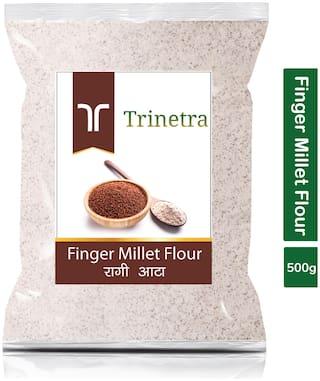 Trinetra Best Quality Ragi Atta (Finger Millet Flour)-500g (Pack Of 1)