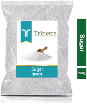 Trinetra Best Quality White Sugar 250g (Pack Of 1)