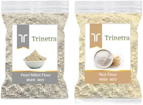 Trinetra Best Quality Bajra/Pearl Millet Atta 500g & Rice Flour 1kg