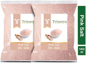 Trinetra Best Quality Pink Salt (Sendha Namak)-1Kg (Pack Of 2)