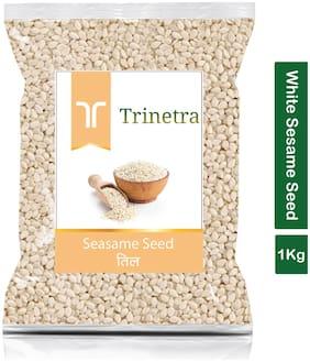 Trinetra Best Quality Safed Til (White Sesame Seeds)-1Kg (Pack Of 1)
