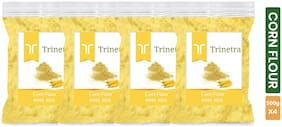 Trinetra Best Quality Corn Flour / Makka Atta 500 g ( Pack of 4 )