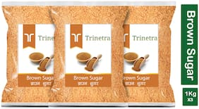 Trinetra Best Quality Brown Sugar-1Kg (Pack Of 3)