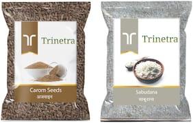 Trinetra Best Quality Ajwain 100g And Sabudana 1kg