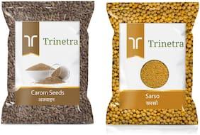 Trinetra Best Quality Ajwain 100g And Sarso 200g