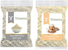 Trinetra Best Quality Bajra/Pearl Millet Atta 500g & Kuttu Atta 1kg