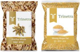 Trinetra Best Quality Amchur Sabut 100g & Moong Mogar Dal (Split) 500g