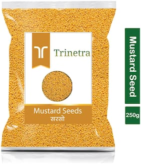 Trinetra Best Quality Sarson (Mustard Seeds)-250g (Pack Of 1)