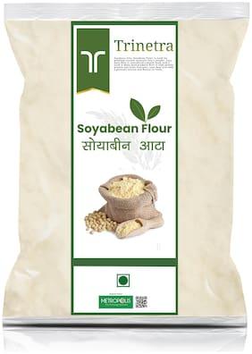 Trinetra Best Quality Soyabean Atta (Soyabean Flour)-3kg (Packing)