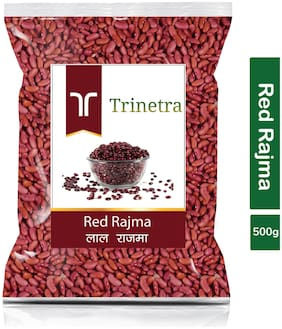 Trinetra Best Quality Red Rajma (Red Kidney Beans)-500g (Pack Of 1)