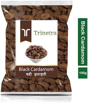 Trinetra Best Quality Badi Elaichi (Black Cardamom)-100g (Pack Of 1)