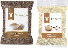 Trinetra Best Quality Ajwain 100g And Rajgira Flour 1kg