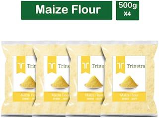 Trinetra Best Quality Makka Atta (Maize Flour)-500g (Pack Of 4)