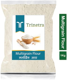 Trinetra Best Quality Multigrain Atta (Multigrain Flour)-1kg (Pack Of 1)