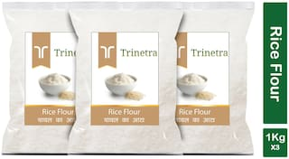 Trinetra Best Quality Chaval Atta (Rice Flour)-1kg (Pack Of 3)