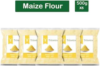 Trinetra Best Quality Makka Atta (Maize Flour)-500g (Pack Of 5)