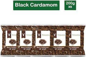 Trinetra Best Quality Badi Elaichi (Black Cardamom) 200g (Pack Of 5)