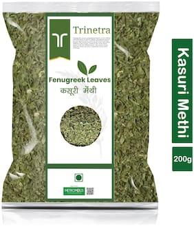 Trinetra Best Quality Kasuri Methi (Fenugreek Leaves)-200g (Pack Of 1)
