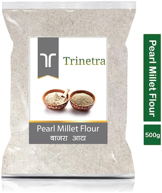Trinetra Best Quality Bajra Atta (Pearl Millet Flour)-500g (Pack Of 1)