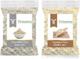 Trinetra Best Quality Soya Bean Flour 500g & Bajra/Pearl Millet Atta 1kg
