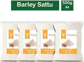 Trinetra Best Quality Jau Sattu (Barley Sattu) 500g (Pack Of 4)
