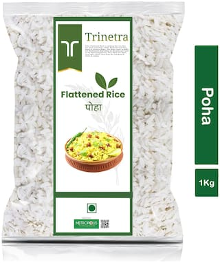 Trinetra Best Quality Poha (Flattened Rice)-1Kg (Pack Of 1)