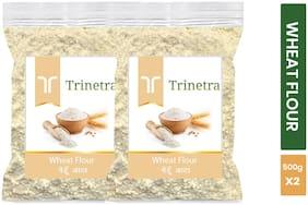 Trinetra Best Quality Wheat Flour / Gehoon Atta 500 g ( Pack of 2 )