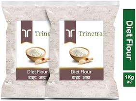 Trinetra Best Quality Diet Atta (Diet Flour)-1kg (Pack Of 2)