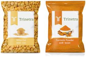 Trinetra Best Quality Turmeric Powder/Haldi Powder 400g And Arhar Dal 1kg