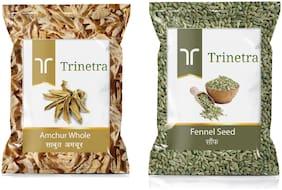 Trinetra Best Quality Amchur Sabut 100g & Fennel /Saunf 400g