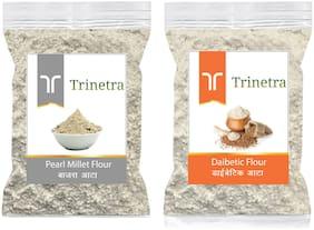 Trinetra Best Quality Bajra/Pearl Millet Atta 1kg & Diabetic Atta/Flour 1kg