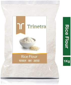 Trinetra Best Quality Chaval Atta (Rice Flour)-1kg (Pack Of 1)