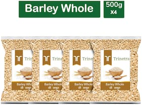 Trinetra Best Quality Jau Sabut (Barley Whole Grain) 500g (Pack Of 4)
