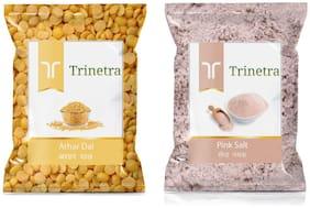 Trinetra Best Quality Pink Salt 1kg And Arhar Dal 1kg