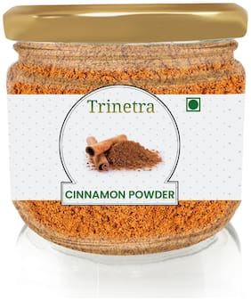 Trinetra Best Quality Dalchini (Cinnamon) Powder (Glass Jar Pack)-100g (Pack Of 1)