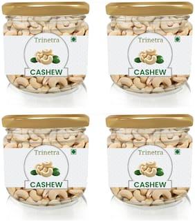 Trinetra Best Quality Kaju (Cashew) (Glass Jar Pack) 175g (Pack Of 4)