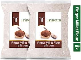 Trinetra Best Quality Ragi Atta (Finger Millet Flour)-1kg (Pack Of 2)
