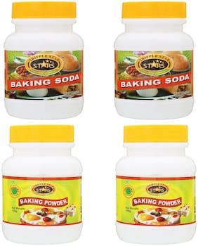 TRIPPLESTAR Baking Soda- 100 g, Baking Powder- 100 g(Pack of 4)