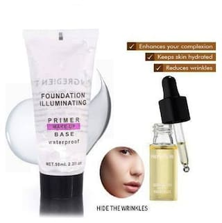 Trivety Pro Ultra Smooth And Skin Combo Of Primer & Essential Oil (2 Items In The Set : 64ml)
