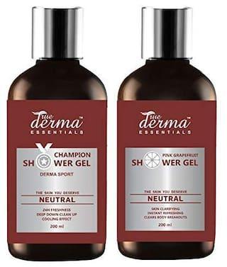 True Derma Essentials Champion Derma Sport 200 ml+ Pink Grapefruit Shower Gel 200 ml