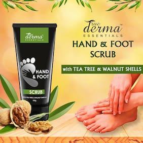 True Derma Essentials Hand & Foot Scrub With (Tea Tree & Walnut Shells), 100 g
