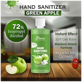 True Derma Essentials Green Apple (72% Isopropyl Alcohol) Soft Gel Base;Kills 99.99% Germs Hand Sanitizer Pump Dispenser (500 ml) (Pack Of 1)