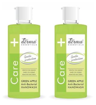 True Derma Essensials Anti-Bacterial Handwash Green Apple 500ml Each (Pack of 2)