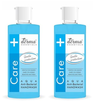 True Derma Essensials Anti-Bacterial Handwash Aqua 500ml Each (Pack of 2)