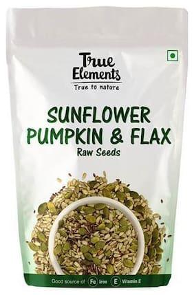 True Elements Raw Seeds - Sunflower, Pumpkin, Flax Seeds 150 g