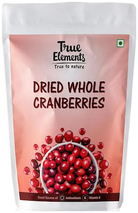 True Elements Dried Whole Cranberries 500g