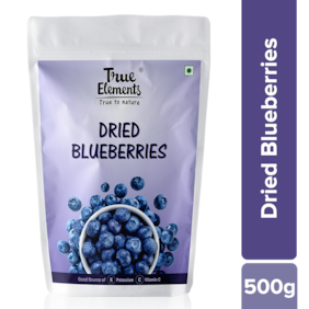 True Elements Dried Blueberries 500g