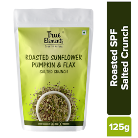 True Elements Roasted Sunflower Pumpkin And Flax Salted Crunch 125g