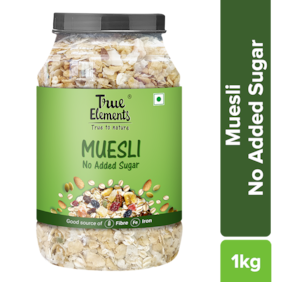 True Elements No Added Sugar Muesli 1000 g