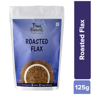 True Elements Roasted Flax Seeds 125g